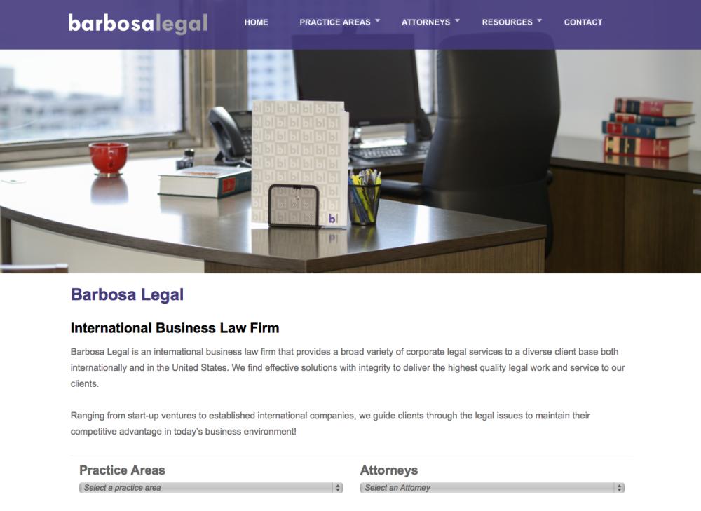 Barbosa Legal Website