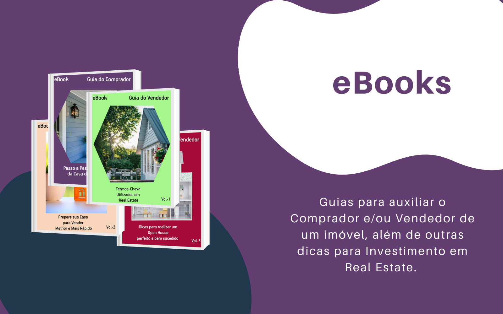 Banner For The Ebooks Page Showing Covers Of Some Volumes And An Explanation Of The Content For People Buying Or Selling A House